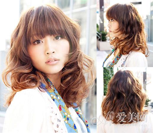 热门指数:★★★ 编辑点评:这款中长发烫发采用了冷烫.