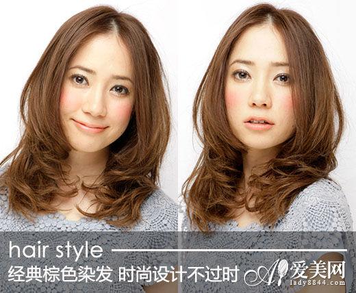 经典棕色染发 时尚设计魅力不过时