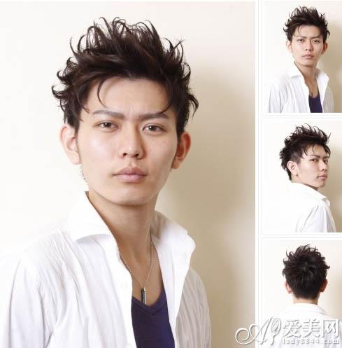 矮个子男生发型 短卷发设计更显高图片