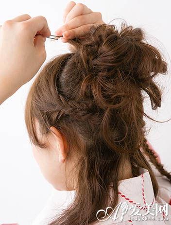 半扎发型步骤图解