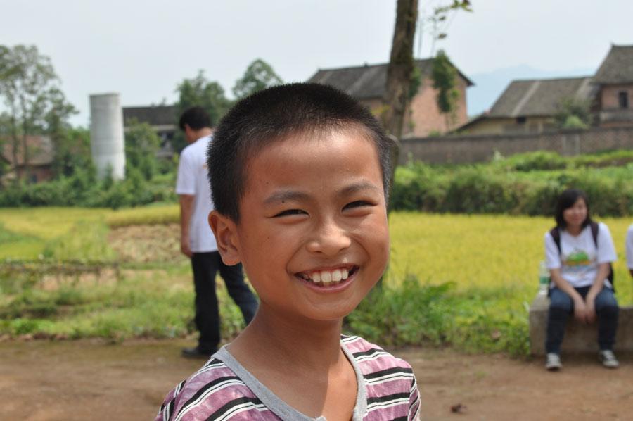 农村儿童微笑
