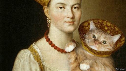 大姜黄猫查拉图斯特拉在俄罗斯著名画家伊万·斯拉因斯基的《不知名的女人》中。