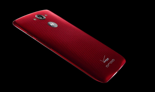 红色Motorola DROID Turbo