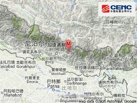 尼泊尔地震:7.5级中方1死2伤部分地区电力中断