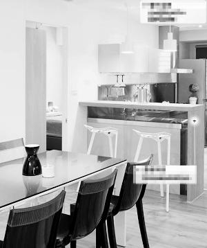 一个小小吧台即可隔断餐厅与厨房 资料图片