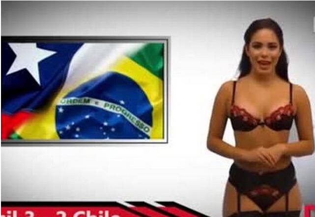 美女主播脱内衣播报世界杯