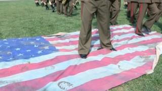 朝鲜播出践踏美国旗画面
