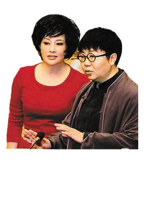 田沁鑫在话剧《风华绝代》发布会上.(资料图片)-奔六 刘晓庆想图片