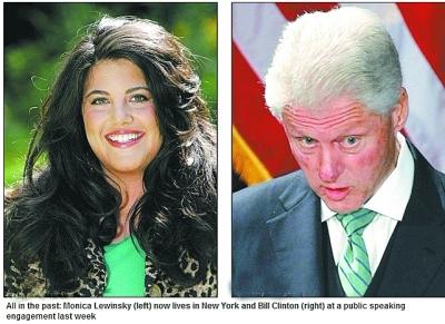 """90年代,当""""莱温斯基性丑闻""""东窗事发之后,尽管克林顿一开始拒不承认"""