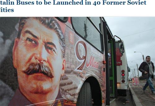 """为庆卫国战争胜利日 """"斯大林巴士""""将出现在5个国家"""
