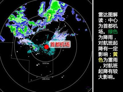 北京首都机场航班出现延误