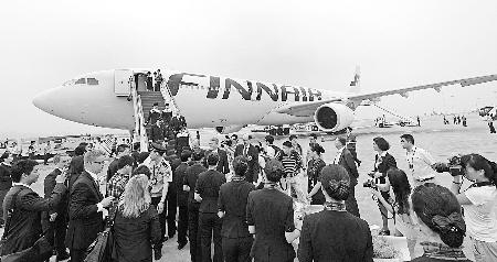 航班到达重庆机场