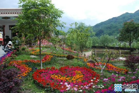 汶川水磨镇:花园古镇繁华老街(组图)