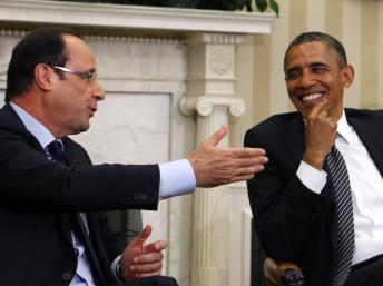 奥巴马与法国新任总统奥朗德会晤