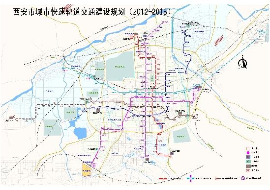 四号线、五号线、六号线线路示意图(点击图片查看大图) 西部网讯 (记者 马广浩)今天(6月1日),记者从西安市城市快速轨道交通建设规划(2012-2018年)评估会上了解到,西安地铁四号线、六号线、五号线一期将于2018年建成,届时西安市轨道交通建设总长度达到196公里,轨道交通线网主骨架将基本形成。到2020年,轨道交通将占公交出行总量的比例达到35%左右。 本次建设规划确定西安地铁四号线、六号线、五号线一期为近期建设项目,三条线路全长约101.