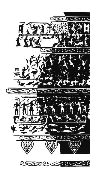 图24 战国水陆攻战纹铜器拓片(局部)