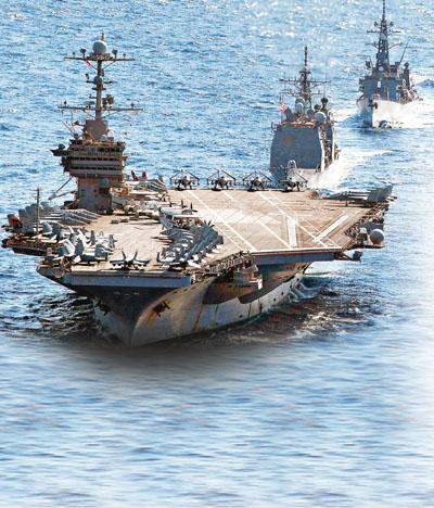 华盛顿号核动力航空母舰战斗群参与美日联合军演. 资料图片-港媒