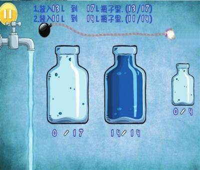 瓶子装满一定容量的水