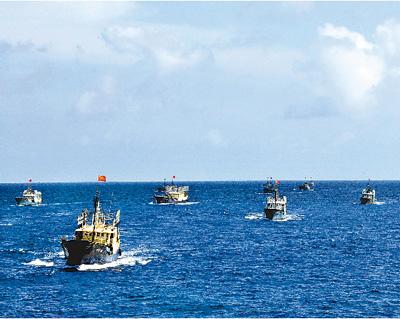 海南渔船队 抵达永暑礁