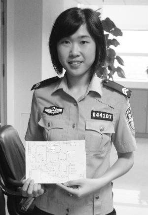 温倩茹和她的手绘地图.信息时报记者 郑启文 摄