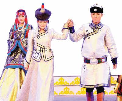 蒙古族服装服饰艺术节闭幕图片
