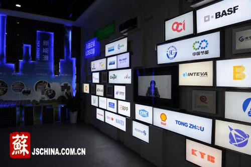 公司logo形象墙效果图,logo墙波音软片效果图,科技公司logo