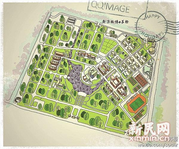 网络凝聚学生团队 手绘上海9所高校地图