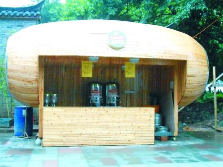 这个酷似木桶造型的啤酒屋