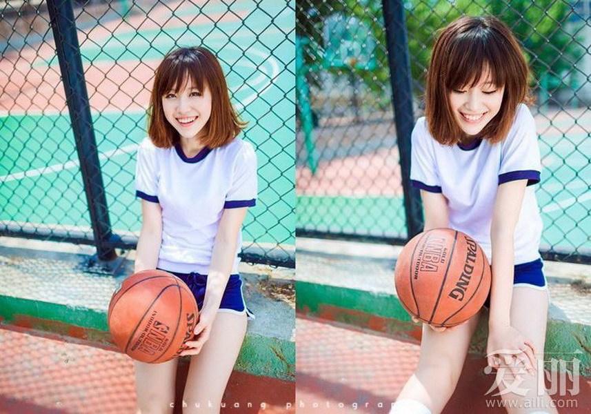 打篮球篮球女孩小清新美女篮球女生