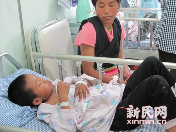 藏族先心患儿今儿童医院手术