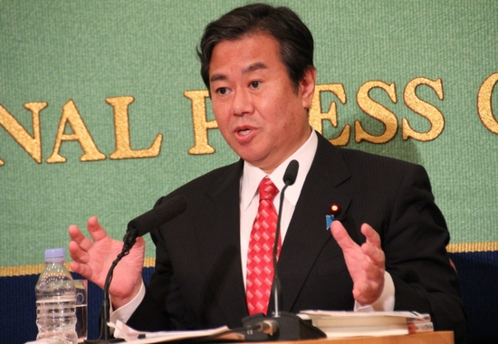 日本前总务大臣原口一博(网页截图)