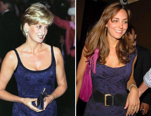 凯特王妃和戴安娜相似的倩影.-凯特王妃半裸照成杂志封面 英王室再