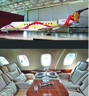 现在拥有私人飞机的明星也渐渐地多起来了