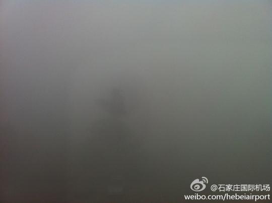 雾霾再次来袭全国多地机场航班起降受影响