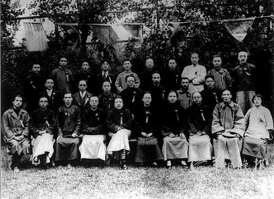 青年毛泽东与汪精卫的合影