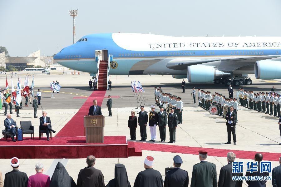美国总统奥巴马开始访问以色列