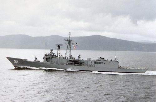 """资料图:美国海军""""佩里""""级""""卡尔""""号护卫舰"""