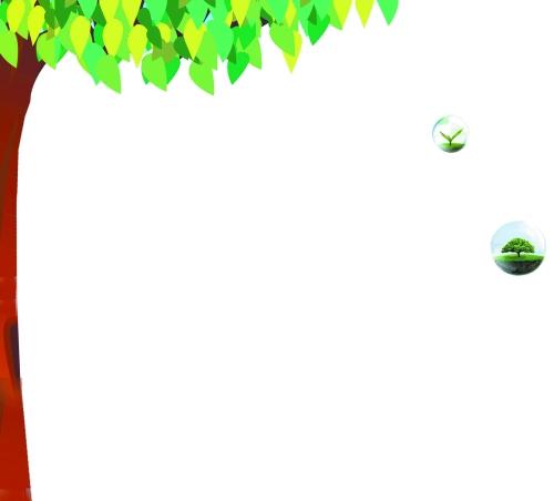 森林手账边框手绘