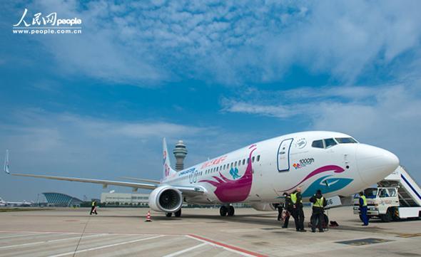 东航迎中国第1000架波音飞机