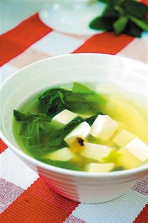 荠菜豆腐汤; 春天野菜香; 荠菜豆腐汤的做法 - 好吃点