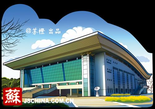 """南京林业大学主楼手绘-南林大创业团队苏橙工作室又推出一套""""异形""""明信片-毕业了把记忆图片"""