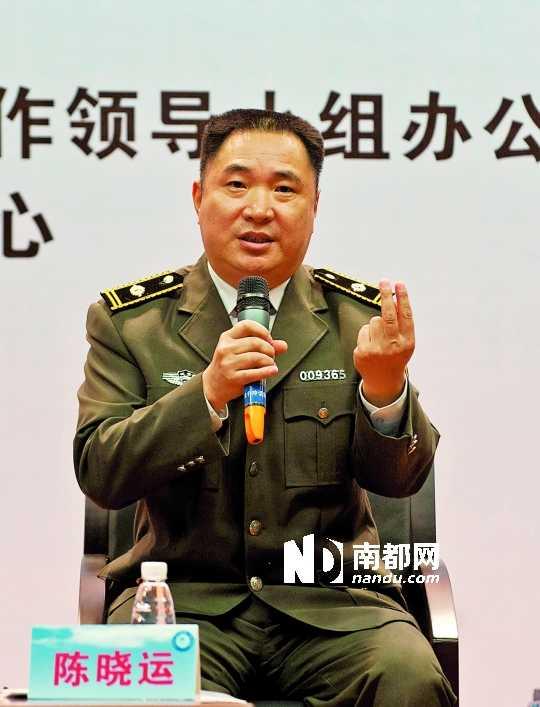 广州城管天河南中队中队长宿立喜。