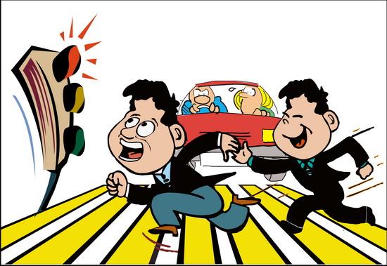 漫画:中国式过马路