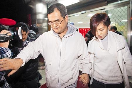 林益世与妻子彭爱佳(图片来自台媒)