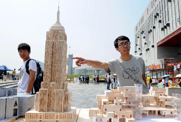 把世界著名建筑搬进校园图片
