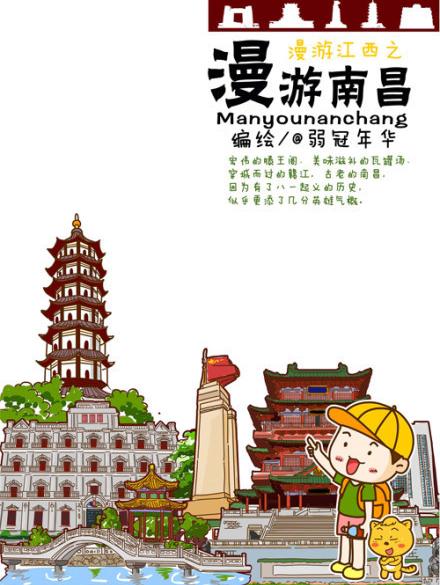 手绘南昌旅游地图在微博上引发网友关注