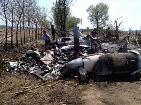 沈阳一小型飞机坠毁 坠落原因正在调查(组图)
