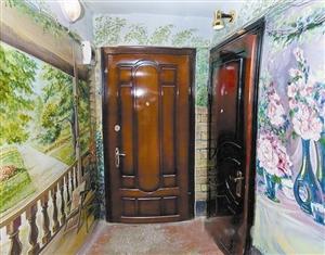 创意生活手绘墙 旧房走廊皆艺术