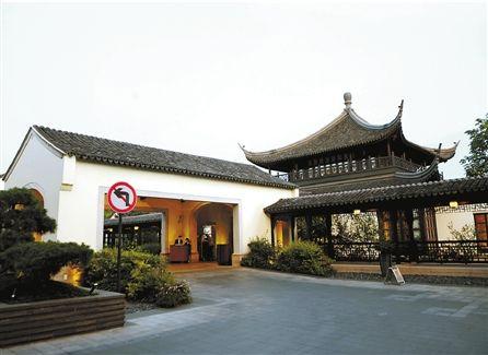 小贝此次在杭v四季的杭州西子湖四季框框,具有典型的江南庭院式建筑如何在表格仲绘制酒店图片