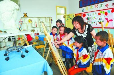 临夏县北塬中心学生教师小学学习小学指导绘画名字毕业美术群图片